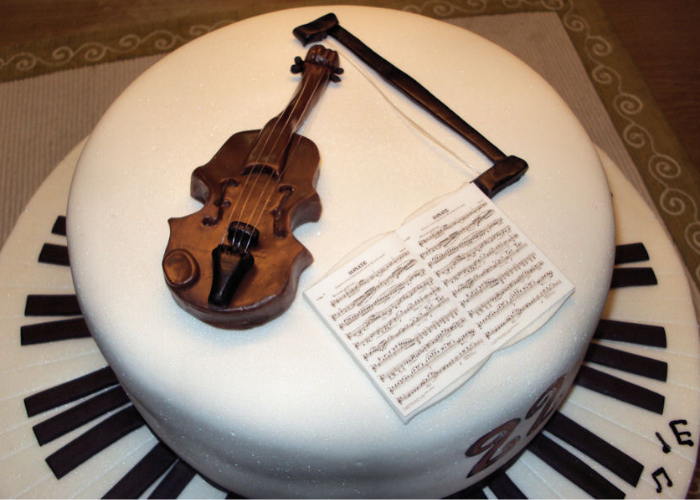 musical instrument guitar birthday cake